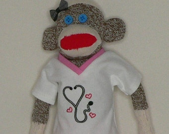 Nurse Sock Monkey - For a Loved One Dedicated to Healing