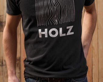 HOLZ ORIGINAL T-Shirt Stone Wash Black, Screen Print