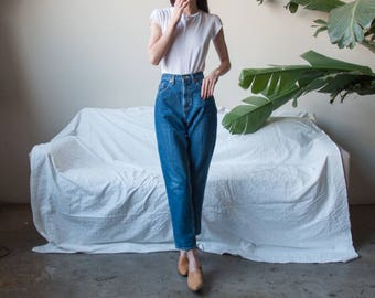 high rise tapered jeans / classic GAP high rise / vtg relaxed fit tapered leg jeans / US 6 / 27 W / 3142t / B15