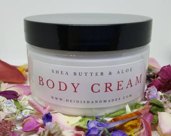 Moisturizing Body Cream - Choose Your Scent - Hand and Body Cream - Shea Butter Cream - Aloe Vera Cream - Shea Butter Lotion - Aloe Lotion