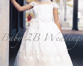 Flower Girl Lace Dress Iv...