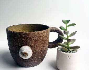 Ghost Sloth Stoneware Mug