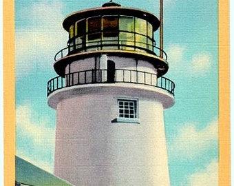 Vintage Cape Cod Postcard - Highland Light (Unused)