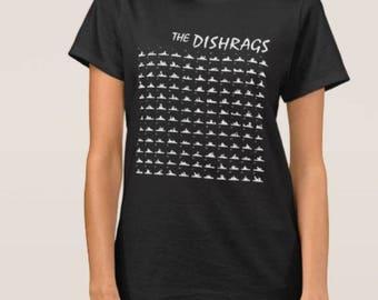 the Dishrags   T shirt screen print short sleeve     shirt cotton