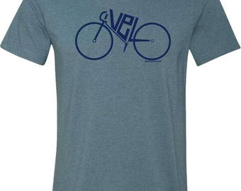 Bicycle T-Shirt-VELO-Bike Tee-Available in 6 colors-Bicycle Tshirt,Road Bike t-shirt, bike gift, cycling tshirt, gifts for cyclists,for him
