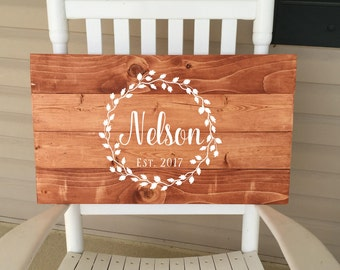 Wooden Guest Book | Wood Sign | Guest Book Sign | Wreath Sign | Wedding Decor | Name Sign | Established Date | Rustic Guest Book | 22601