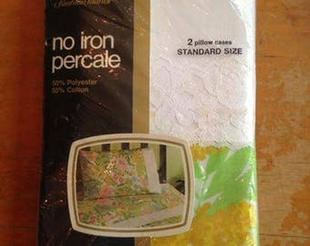 NOS/NIP JcPenney Fashion Manor Standard Pillowcase Set Floral Flowers