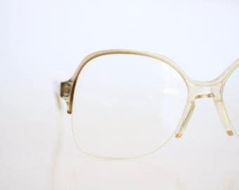 vintage sheer mink rimless frames