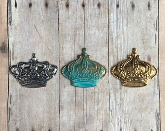 Crown Brooch Regal Pin Royalty Jewelry Queen Fashion Accessory