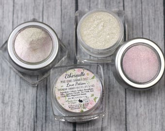 """Pixie Gems Holographic Shimmer Dust Sample - """"Love Potion"""" - all natural color shifting pink glitter"""