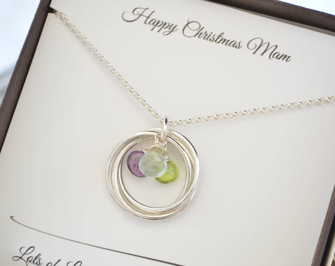 Christmas gift for mom, Necklace gift for mother, Birthstone jewelry, Mothers birthstone necklace, Family necklace, Gift for grandma