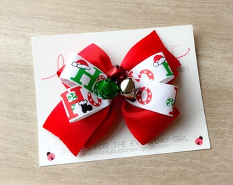 Christmas Bows for Girls - Christmas Bow - Christmas Hair Bow - Christmas Hair Clip - Hair Bows for Girls - Holiday Party Hair Bow