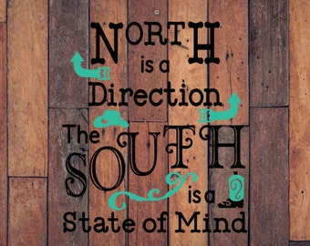 Southern State of Mind Decal - Southern Decal - Country Life Decal - Boot Decal - Cowboy Hat Decal - Southern State Decal - Car Decal