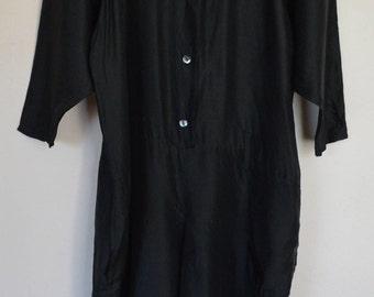 Vintage Black Silk Jumpsuit