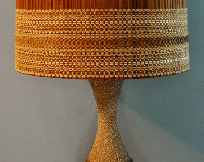 Vintage Maria Kipp Lampshade Woven Bamboo Quartite Creative Lamp Mid Century Modern