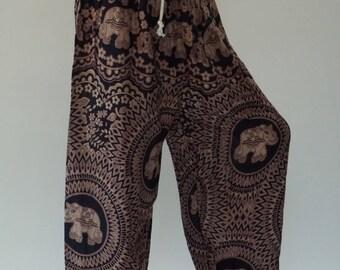 KD0046 Rope and Elastic Waist KID pants - bohemian clothing KID yoga pants harem pants hippie trousers