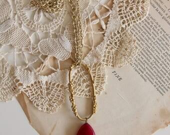 Fuchsia gemstone necklace, wedding jewels