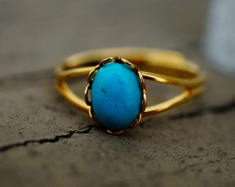 Replica of Jane Austen's Gold and Turquoise Ring | Adjustable Band | Regency | Reenactment | Jane Austen Festival Outfit
