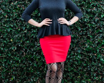Bodycon Skirt - Mini Skirt - High Waist Skirt - Fitted Skirt - Womens Pencil Skirt - Short Skirt - Tube Skirt - Petite Skirt - Tall Skirt
