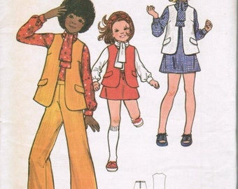 Butterick 6967 Childerens and Girls Dress, Blouse, Vest, Skirt and Pants SIZE 10