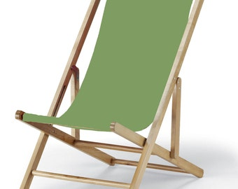 Vintage Style Cabana Beach Sling Chair   Sunbrella