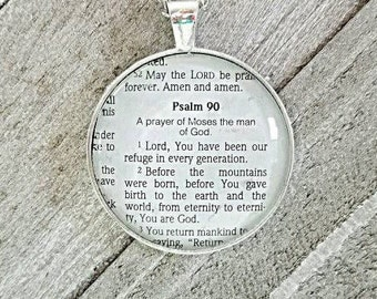 Lord, You have been our refuge/Necklace/Pendant/Gift for Her/Gift for mom/Gift for Wife/Christian Jewelry/Vintage Jewelry/Custom Jewelry