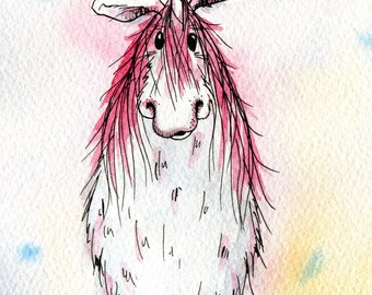 Limited edition print - Pink unicorn, unicorn print