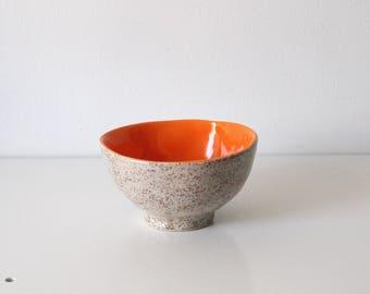 1 medium bowl, Orange Bowl mediate, Ceramics