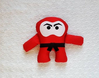 Ninja Toy - Gifts for Boys - Monster Pillow - Valentines Day Gift for Kids - Kids Birthday Gifts - Easter Gifts - Red Ninja - Ninja Monster