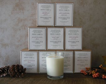 24 bulk candles for resale | wholesale natural candles of soy coconut wax & artisan fragrance in 8 oz jar | appalachian made