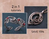 Wire wrapped tutorial Wire wrapped pendant  Wire wrapped bracelet PDF tutorial  Pattern Jewelry making tutorial DIY project Copper jewelry
