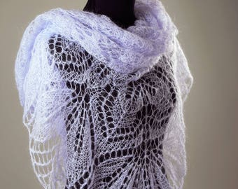 Grey Shawl,Wool Shawl,Mohair Shawl,White Shawl,Bridal Shawl,Party Scarf,Handmade Shawl,Wedding Shawl,Women Accessories,Knitted Shawl