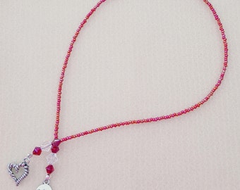 Beaded Bookmark In Red