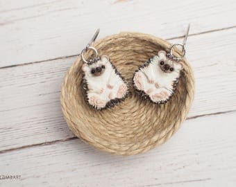 Hedgehog Earrings Hedgehogs Miniature Animal Totem Jewelry 2