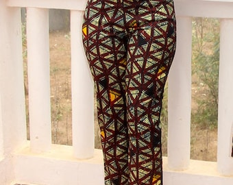 Wax African trousers, three quarter pants, women's trousers, straight pants, capri pants, a summer trousers with original African wax print