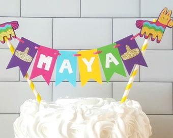 Fiesta Cake Topper, Fiesta Cake Bunting, Girl Fiesta Birthday, Fiesta Birthday, First Fiesta, Girl Birthday Fiesta, Taco Bout A Party Decor