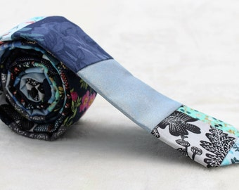 Patchwork Multi-Fabric Necktie
