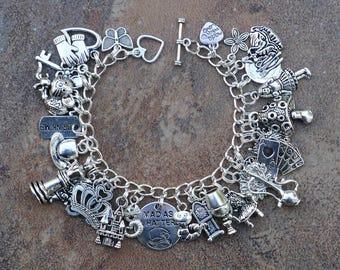 Alice's Adventure in Wonderland - 7 1/2 inch Charm Bracelet