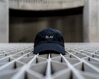 Black Dad Cap Slay Low Profile Hat **Free Domestic Shipping**