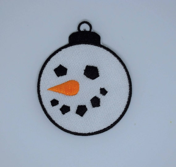Snowman Bauble Iron on Patch