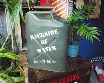 Disneyland Jungle Cruise Inspired Backside of Water Jerry Can