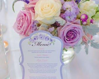 Elegant wedding reception menu card 10pc