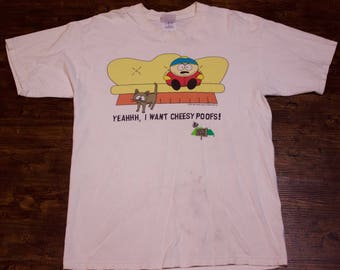 1997 South Park Comedy Central Eric Cartman Graphic T-Shirt Size Large