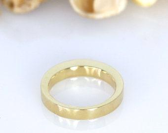Stacking wedding band, Stacking ring, Bridal set, Complementary ring, Unisex gold wedding Band, Matched set rings, Wedding Ring Set