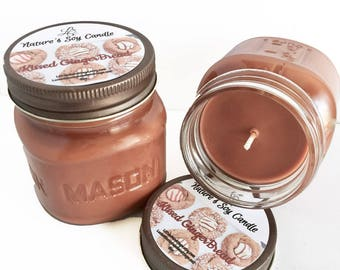 Vegan Candles- Kissed Gingerbread Soy Candle- Holiday Candles- Gift Ideas- Natural Candles- Holiday Gifts- Scented Candles
