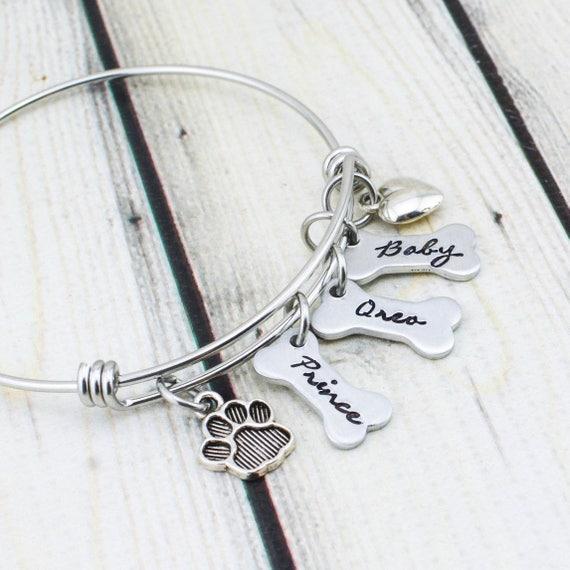 Dog Mom Bracelet Personalized Dog Lover Gift for Women Dog