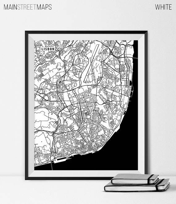 Lisbon Map Lisbon Portugal Map Print Lisbon Portugal Map Of - Portugal map to print