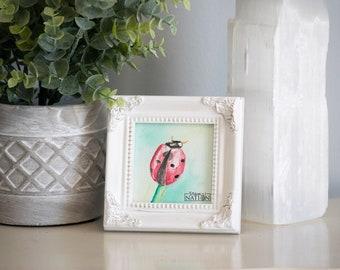 Ladybug Painting, Ladybug Gifts, Lady Bug Baby Shower, Watercolor Ladybug, Lady Bug Painting, Ladybug Gift, Lady Bug Gift, Ladybug