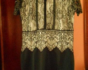 Best Deals Pop 2XL Elegant Black Lace Dress  Special Occasion