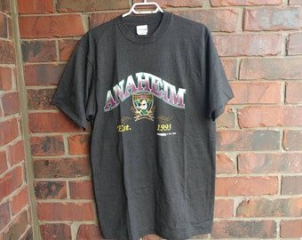 1993 Anaheim Mighty Ducks T-Shirt Vintage Mighty Ducks Tee Shirt